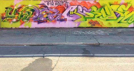 Eskro and Haks collaboration at the PSC legal graffiti wall