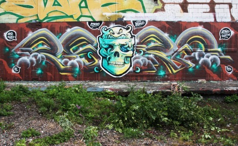 Eskro (letters) and Lapin (skull) in Rosemont