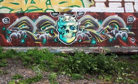 Eskro (letters) and Lapin (skull) in Rosemont