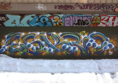 Eskro at the PSC legal graffiti wall