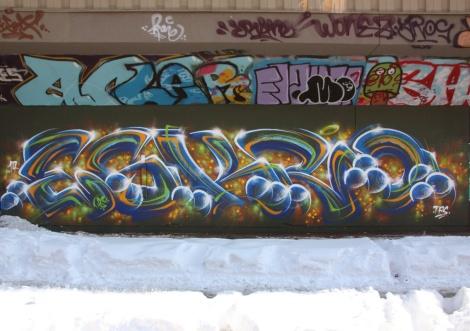 Eskro at the PSC legal graffiti wall