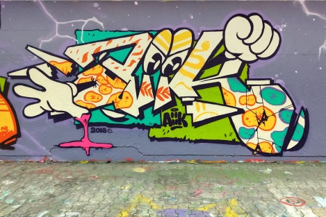 Aiik at the PSC legal graffiti wall