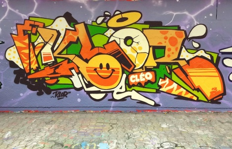 Klor at the PSC legal graffiti wall
