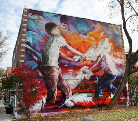 Dodo Osé mural in Hochelaga