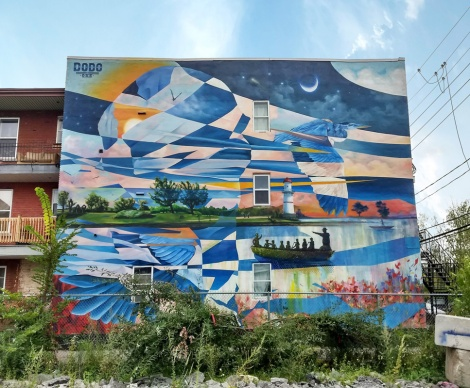 Dodo Osé mural in Lachine