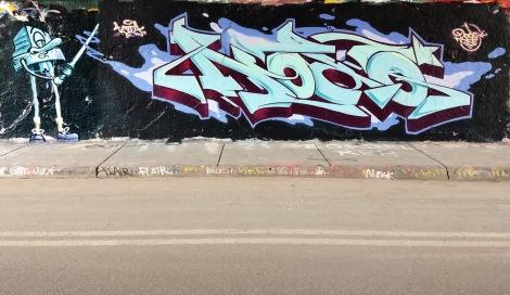 Dodo Osé at the Rouen legal graffiti tunnel