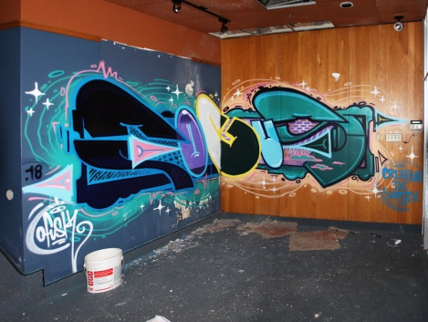 Fokus in an abandoned building