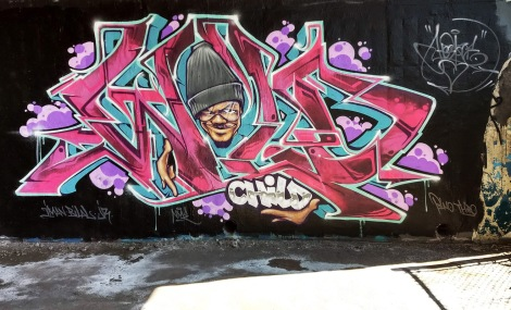 Hest at the Papineau legal graffiti wall