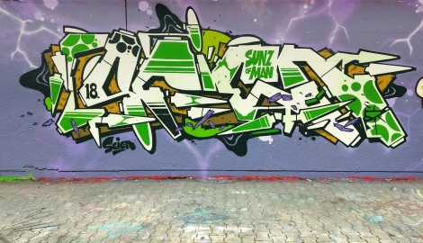 123Klan's Scien at the PSC legal graffiti wall
