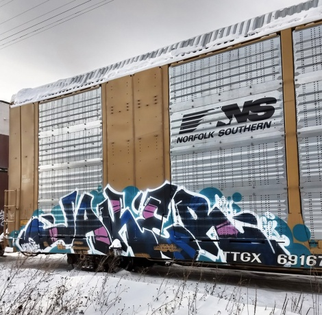 Jaker on a parked train