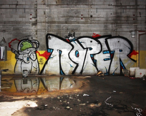 Noper in an abandoned building