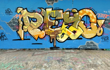 Peyo at the PSC legal graffiti wall