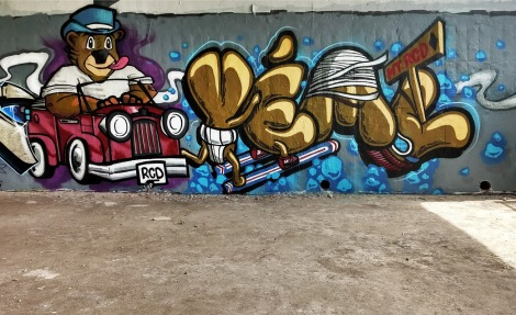Yema at the Papineau legal graffiti wall