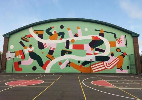 Cédile Gariépy mural in TMR