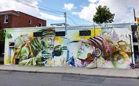 Korb mural in Longueuil