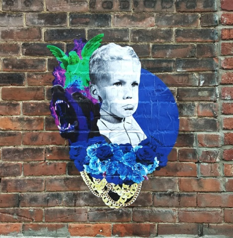 wheatpaste by Mirov in Mile End