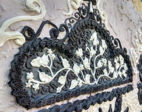 sugar installation by Shelley Miller in the Plateau (close-up)