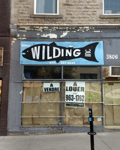Benny Wilding storefront sign hijacking