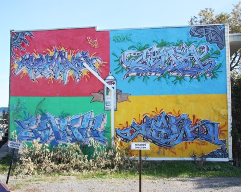 Cems (top left), Scan (top right), Sage (bottom left) and Smak (bottom right) on this classic DA wall in Rosemont