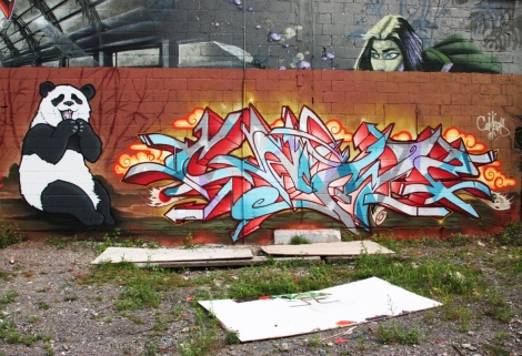 Cemz on Ashop's wall in Hochelaga