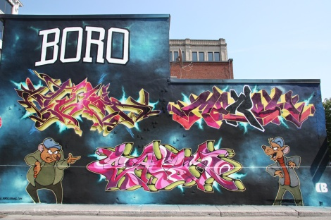 Under Pressure Festival 2014 - Ether (top left), Mersh (top right) and Shok (bottom)