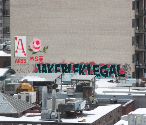 Aliss, Ms Teri, Jaker, Blek and Legal on a downtown rooftop