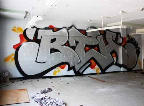 Jaker for BTH in a school awaiting demolition