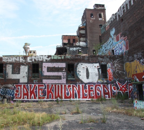 Jaker, Kwun, Legal and many more on one of the roofs of the abandoned Canada Malting