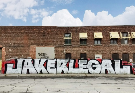 Jaker and Legal on an abandoned building in the South West