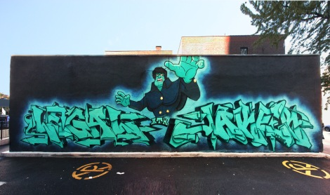 A huge commissioned wall by the BTH crew featuring Legal, Jaker and Jmoe