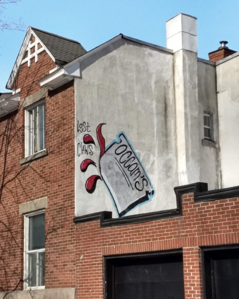 rooftop piece by Lost Claws, in Mile End