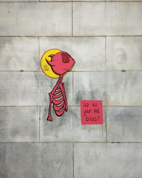 Lost Claws wheatpaste in Mile End