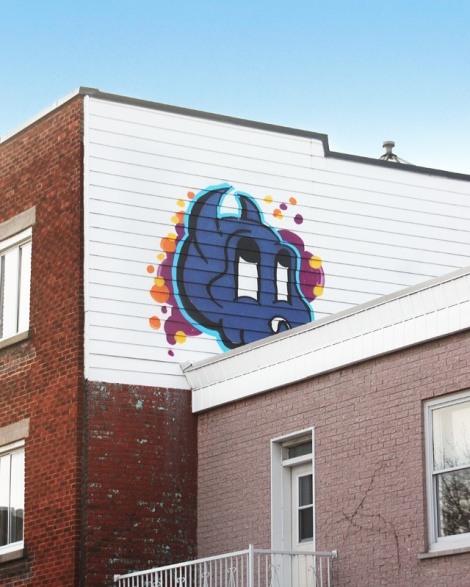 rooftop piece by Lost Claws in the Plateau
