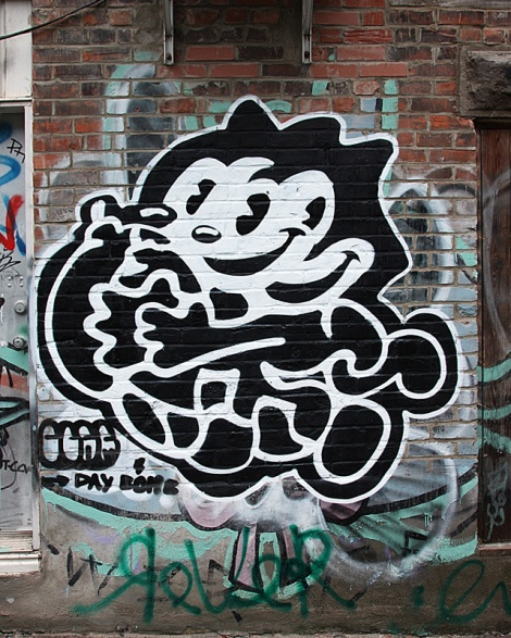 Germdee in a central graffiti alley