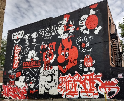 Germ Dee's contribution to the 2019 edition of Mural. Assisted by Gwan and featuring name pieces by Deep and Serak in the bottom left and right corners.