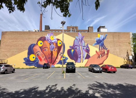 Gleo's contribution to the 2019 edition of Mural Festival