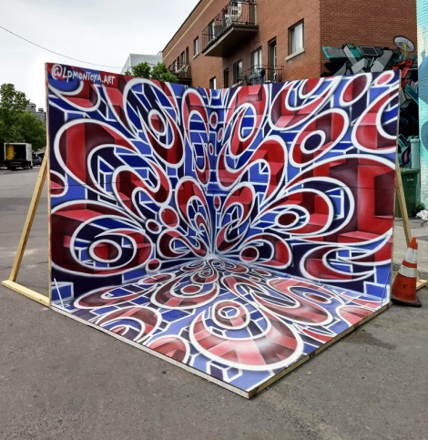 LP Montoya 'photo booth' for the 2019 edition of Mural Festival