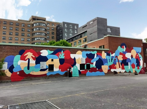 Marc-André Lamothe's contribution to the 2019 edition of Mural Festival