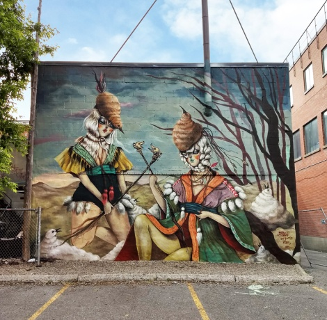 Miss Van's contribution to the 2019 edition of Mural Festival