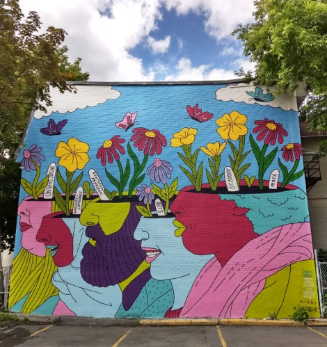 Nikki Küntzle's contribution to the 2019 edition of Mural Festival