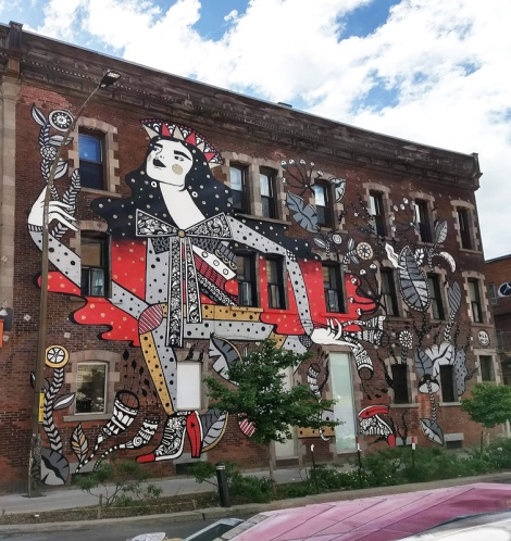 Ola Volo's contribution to the 2019 edition of Mural Festival
