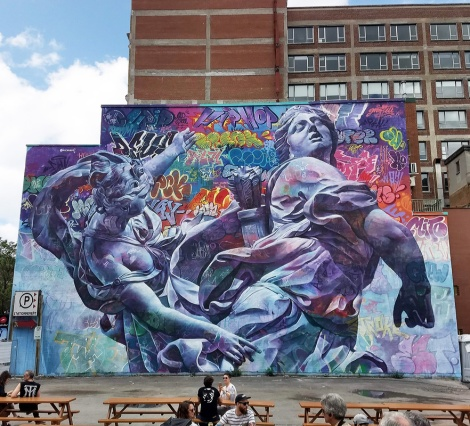 PichiAvo's contribution to the 2019 edition of Mural Festival