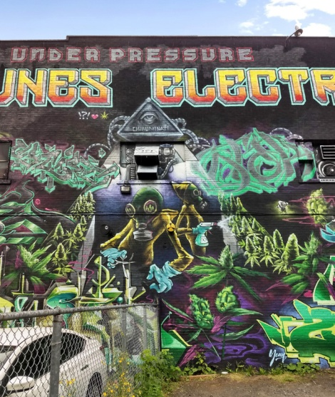 segment of the K6A wall for the 2019 edition of Under Pressure featuring Snikr, Axe, Osti One and Otak