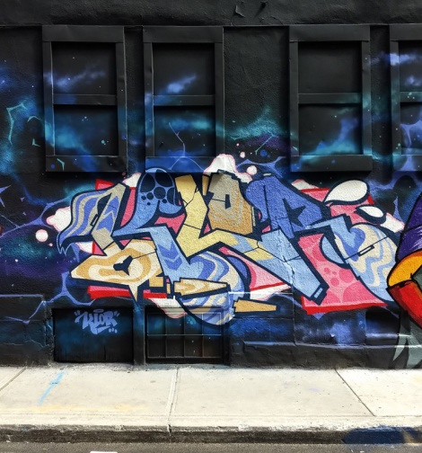Klor's segment of the 123 Klan wall for the 2019 edition of Under Pressure