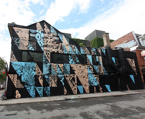 A multi-artist wall for the 2019 edition of Under Pressure featuring SBU One, LSNR, MSHL, Bosny, Loopkin, Le Monstr, Maylee Keo