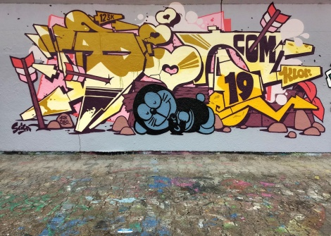The 123 Klan's Scien at the PSC legal graffiti wall