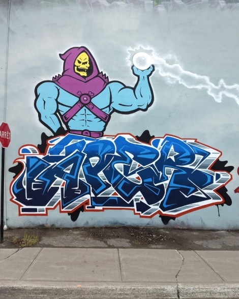 Aper from a production which he curated in Côte St-Paul