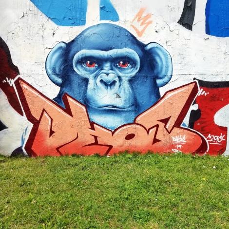 Dhos at the Lachine legal graffiti wall