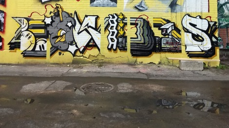 Ekes' part on the 203 crew wall for Canettes de Ruelle in Rosemont