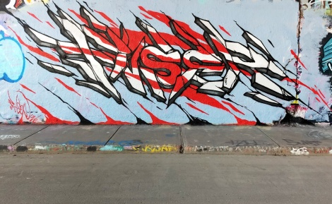 Fuser at the Rouen legal graffiti wall